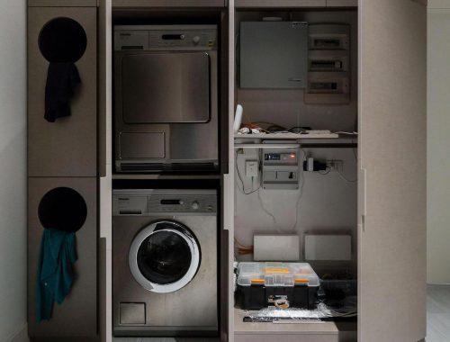 Inspirerende washok en meterkast combinatie