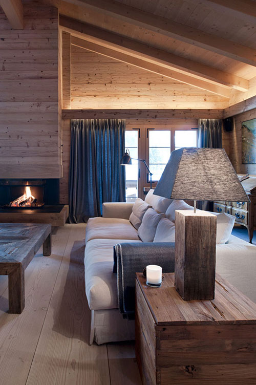 interieur chalet woning in swiss alps interieur inrichting. Black Bedroom Furniture Sets. Home Design Ideas