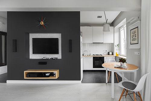 Woonkamer klein appartement cool modern kleine woonkamer