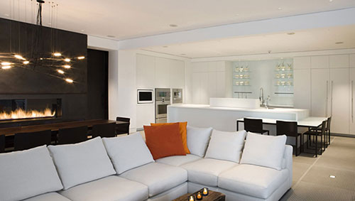 Interieur inrichting van The Yorkville Penthouse