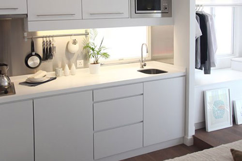 Interieur klein huis interieur inrichting for Open kitchen designs in small apartments