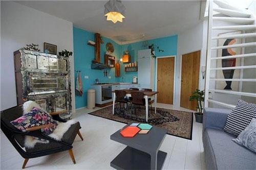 Interieur mix herenhuis in Amsterdam