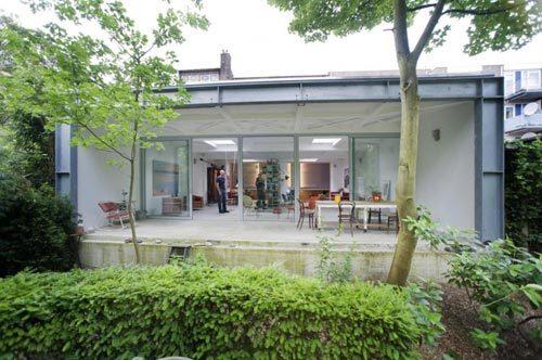 Interieur woning voormalige ambulance garage