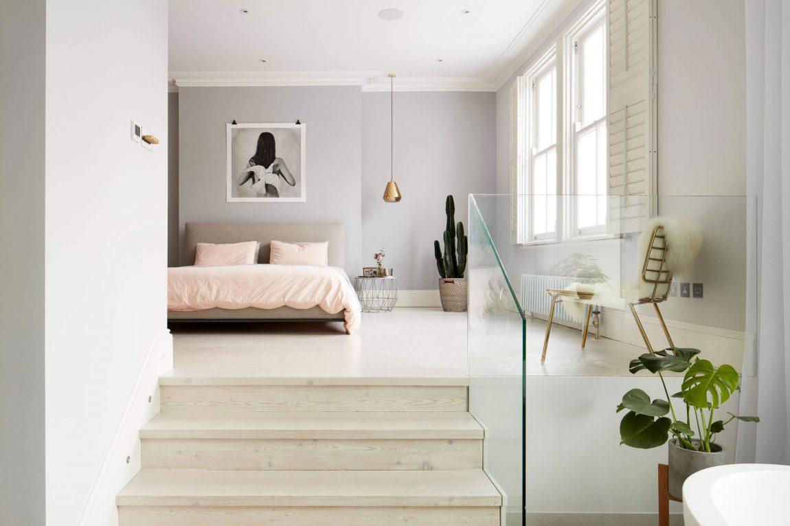Slaapkamer interieur inrichting for Slaapkamer met badkamer