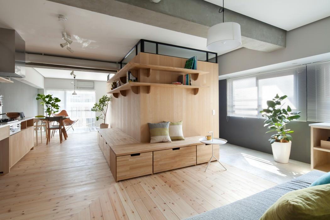 Japans appartement met open indeling interieur inrichting - Moderne buitenkant indeling ...