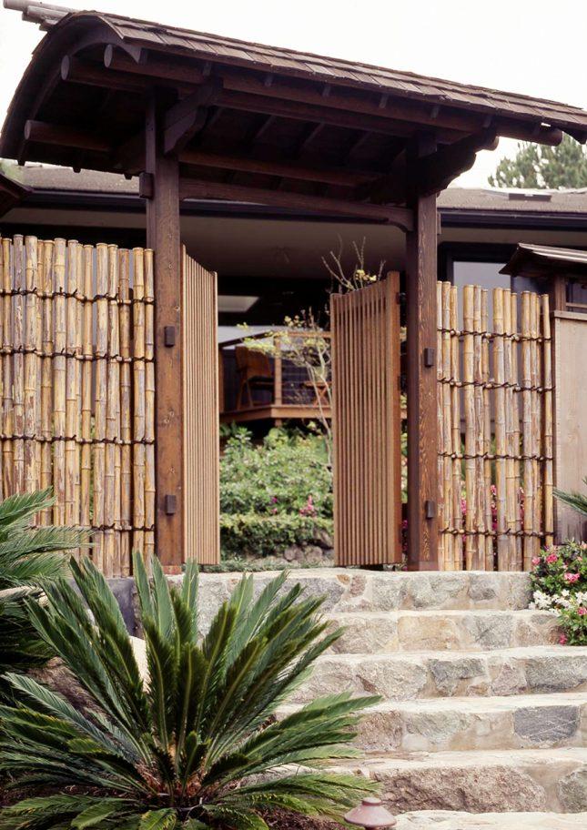 japanse tuin bamboe schutting