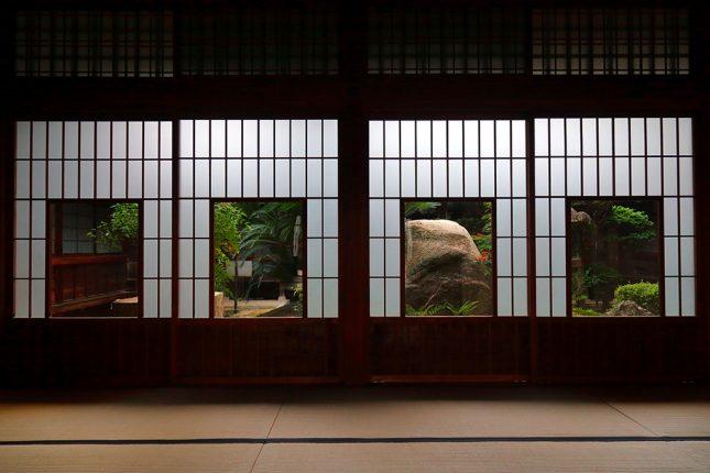 japanse tuin uitzicht op de tuin