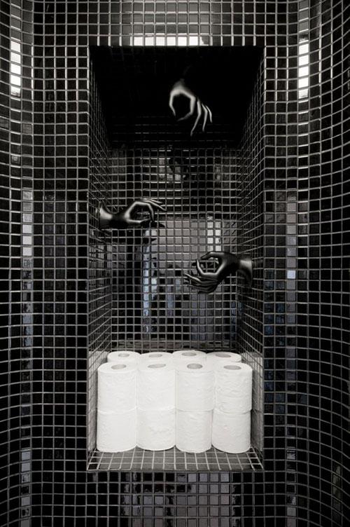 Jaren 39 60 toilet ontwerp interieur inrichting - Wc mozaiek ...