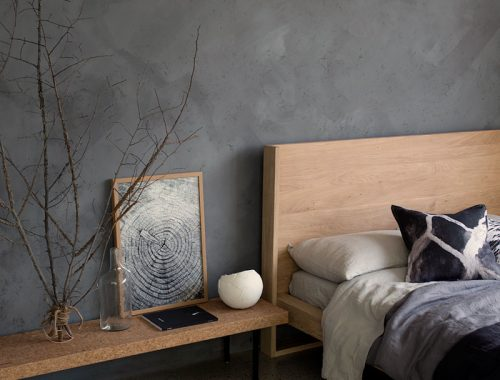 kalkverf muur slaapkamer