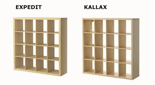 Kallax vs Expedit