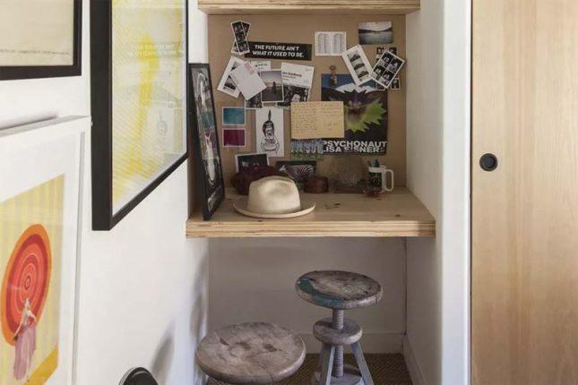 klein kantoor inrichten in huis nisje