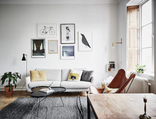 Kantoor in een Scandinavische woonkamer