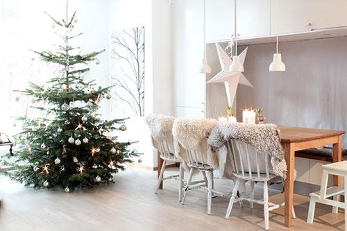 Kerst decoratie in huis interieur inrichting