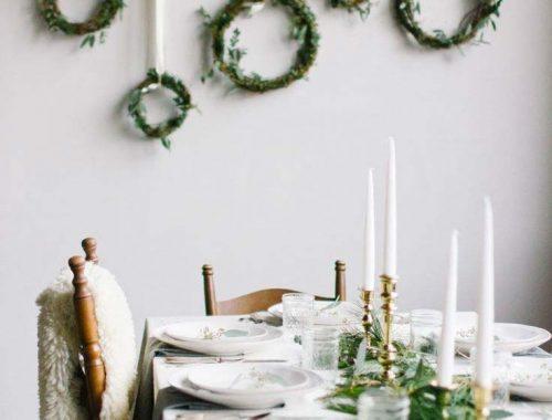 kersttafel dekken ideeën