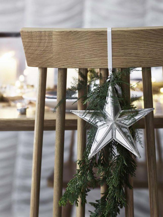 kersttafel dekken ideeën stoel decoreren