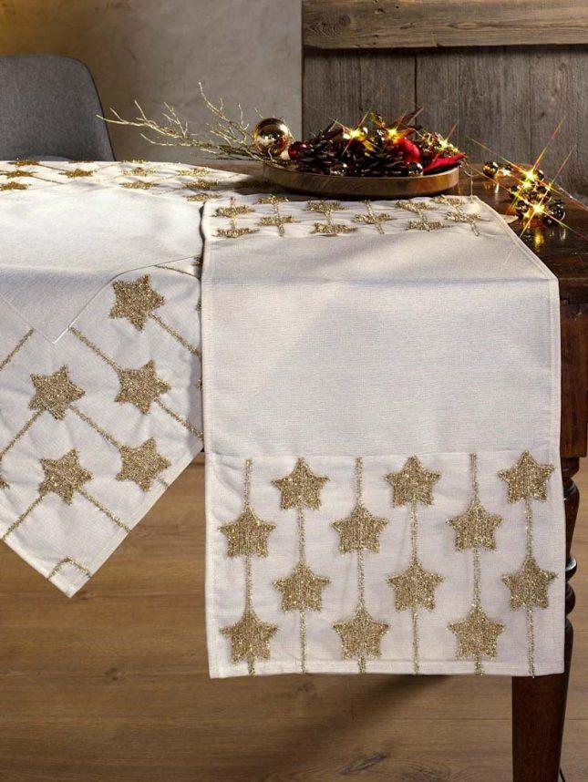 kersttafel dekken ideeën tafellinnen