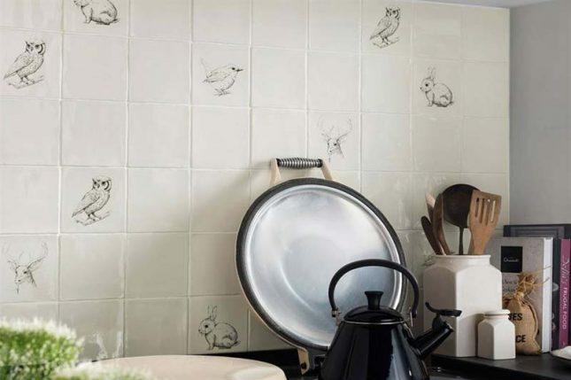 Keuken Tegels met handgetekende illustraties