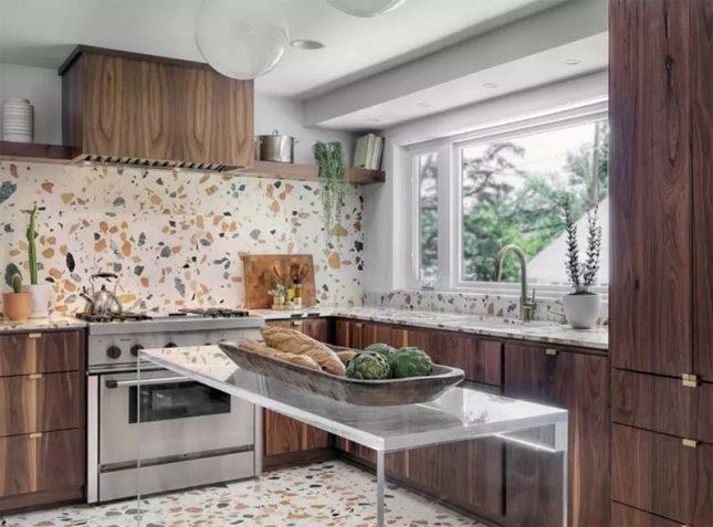 Keuken achterwand Moderne terrazzo tegels