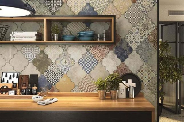 keuken achterwand patchwork patroontegels
