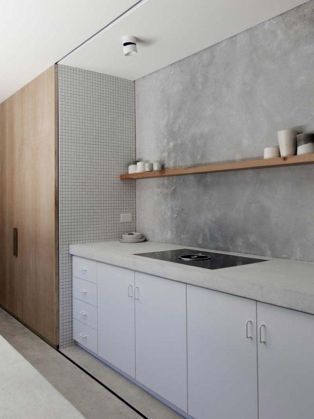 keuken betonnen aanrechtblad en achterwand