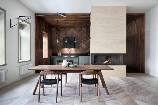 keuken houten houten vloer plafond en wandbekleding