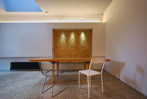 Keuken van houten OSB planken