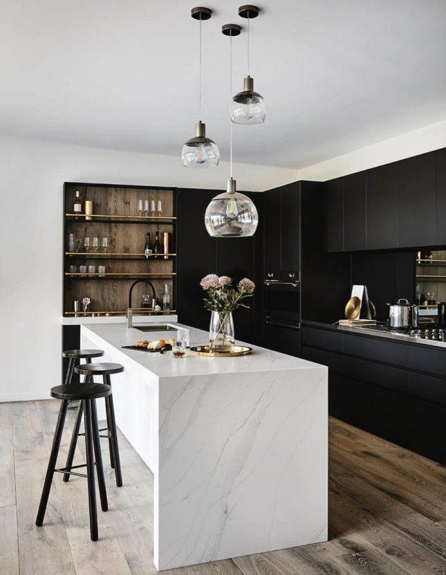 Keuken met twee kleuren