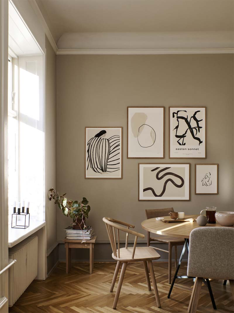 keuken schilderij collage pairs