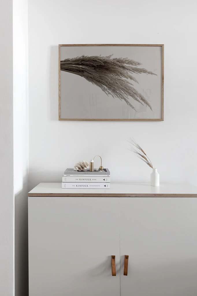 keuken schilderij poster houten lijst coco lapine pampas