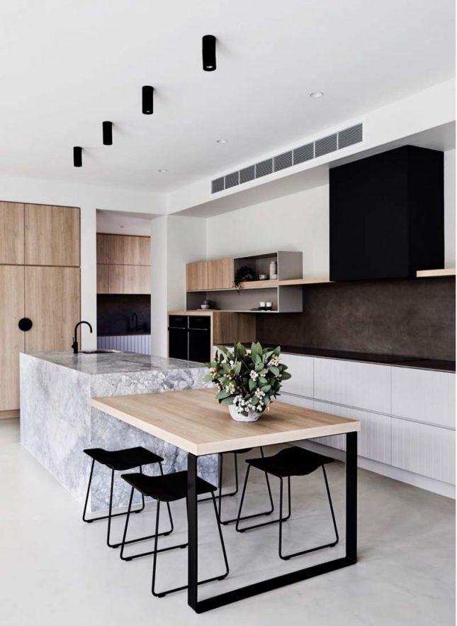 Keukentrends 2020 tafel aan keukeneiland