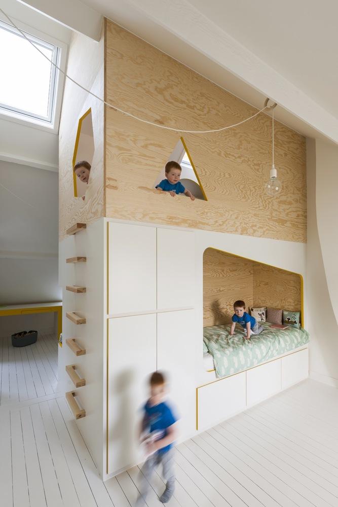 kinderbed speelhuisje roomdivider