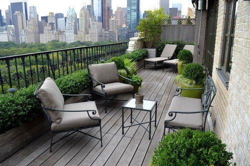 Klassiek balkon ontwerp aan Central Park