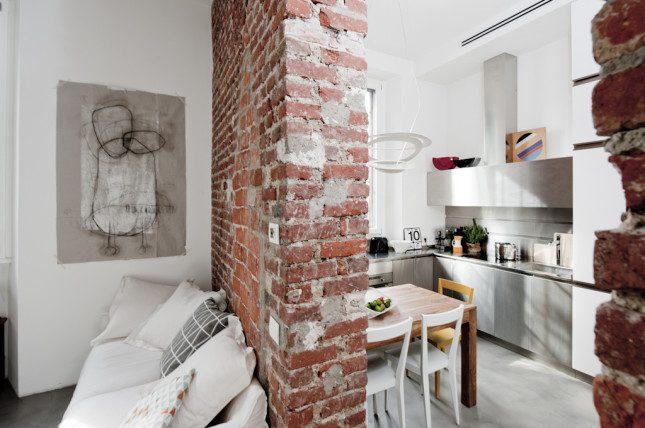 Klein appartement van 30m2 met een stoer industrieel interieur ...