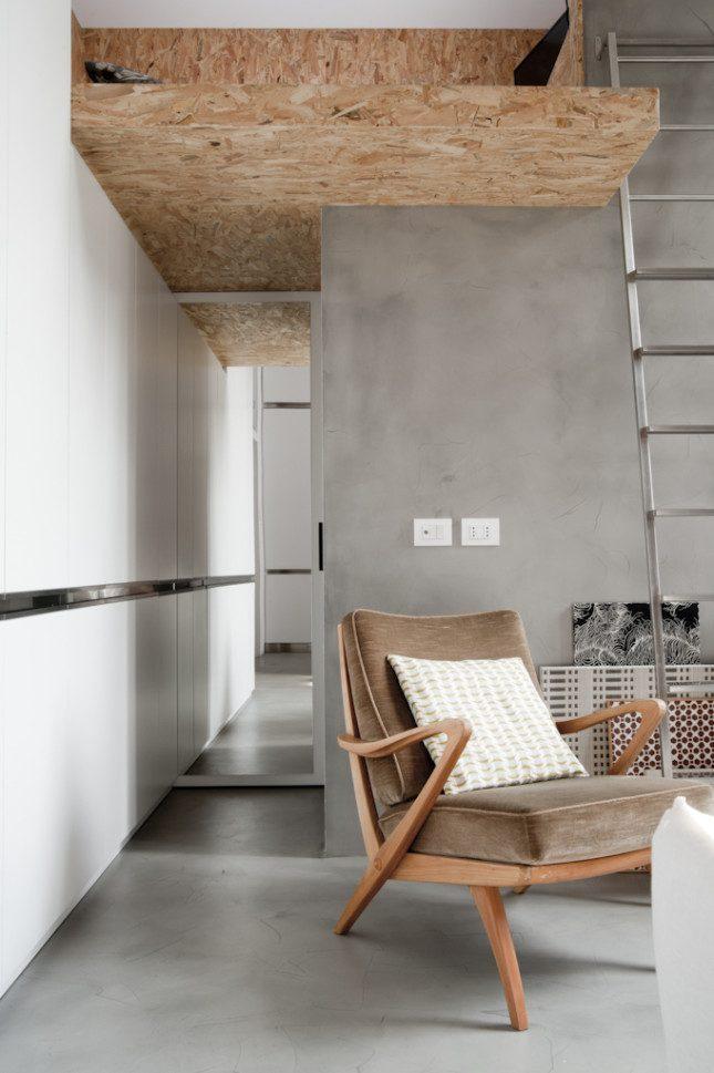 Klein appartement van 30m2 met een stoer industrieel interieur interieur inrichting - Indeling m studio ...