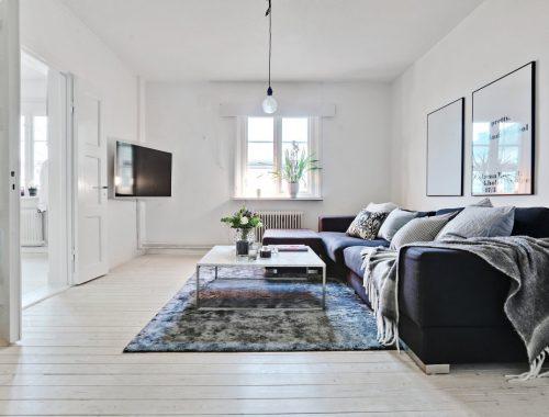 Klein appartement van 58m2 met Scandinavisch interieur