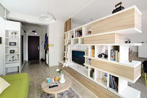 Klein appartement met natuur thema