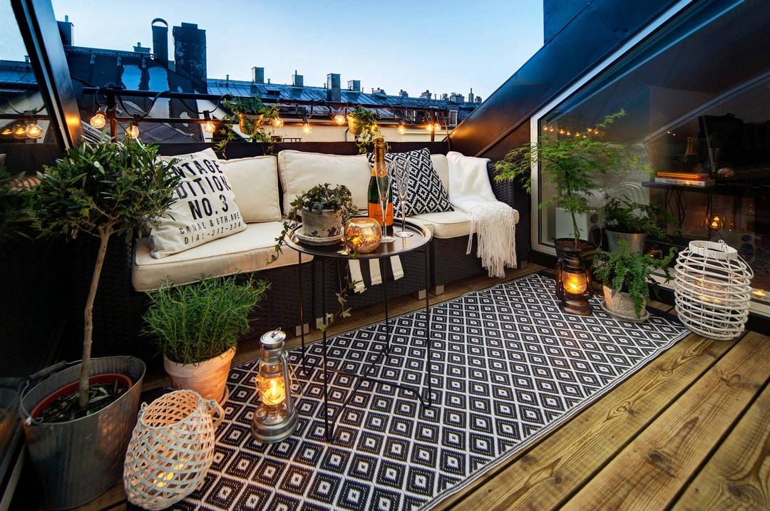 Simpel Balkon Ontwerp : Gezellig zithoekje op balkon interieur inrichting
