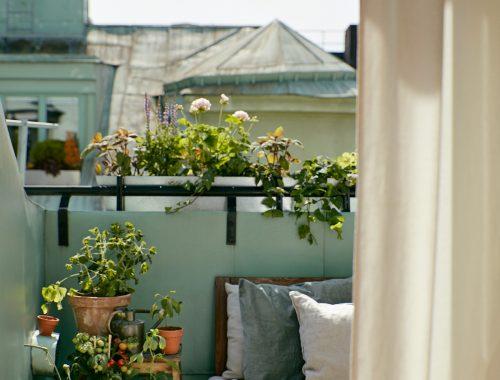 Klein groen balkon van 4m2