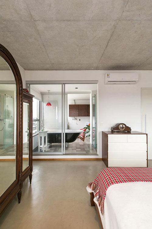 Klein industrieel loft appartement interieur inrichting - Huis loft ...