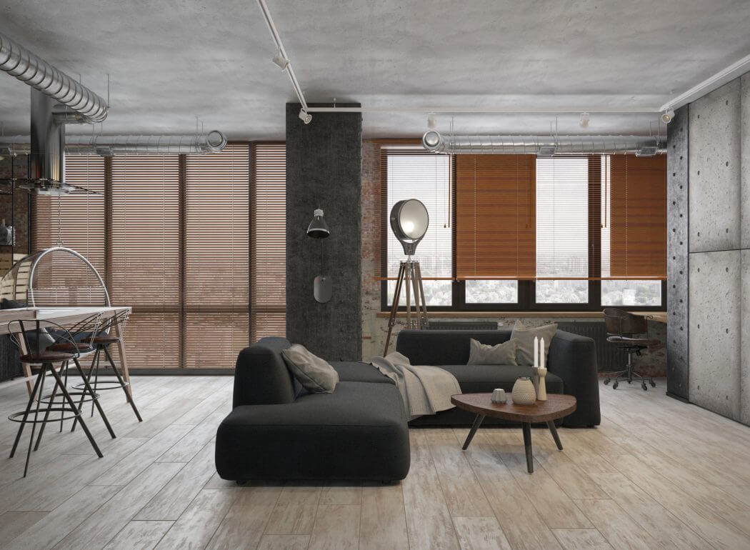 Klein industrieel loft appartement uit moskou interieur for Interieur huis
