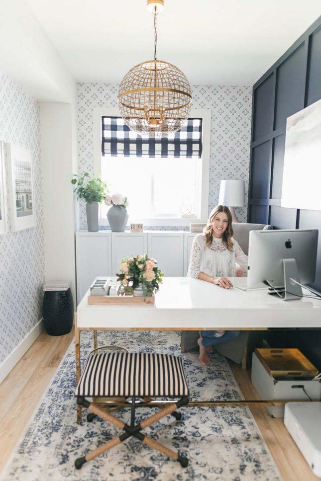 klein kantoor in huis behang
