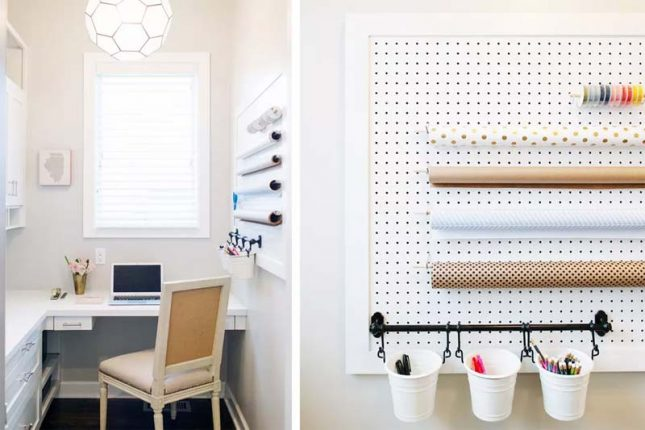klein kantoor inrichten huis gaatjesbord