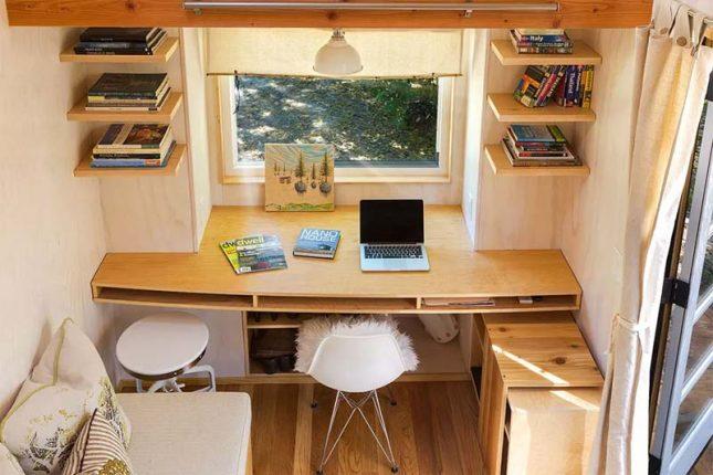 klein kantoor inrichten huis maatwerk