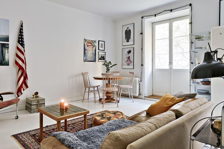 Klein maar ruimtelijk vintage appartement