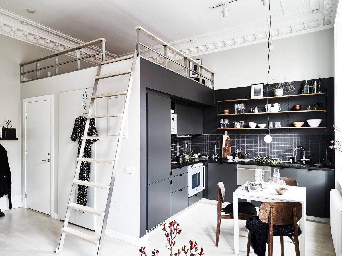 Scandinavisch Appartement Inspiratie : Klein scandinavisch appartement ingericht met veel stijl en