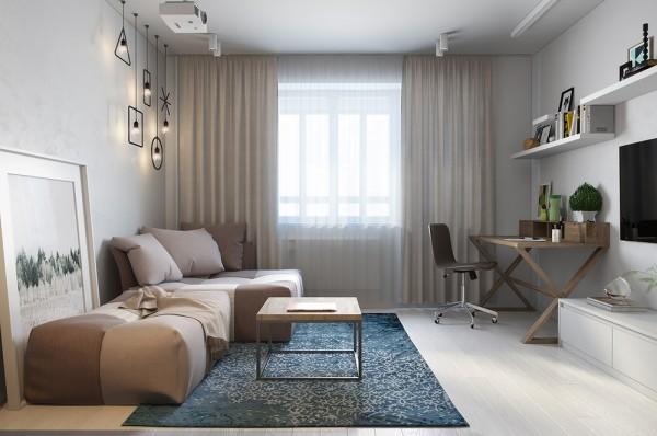 Praktische Inrichting Kleine Slaapkamer : Blue Light Apartment