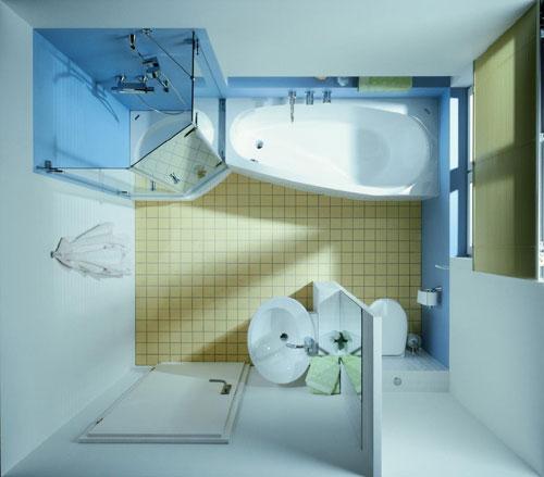 Kleine badkamer met bad interieur inrichting - Deco kleine badkamer met bad ...