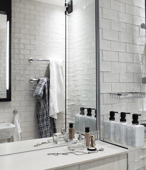 Kleine badkamer van Scandic Grand Central hotel