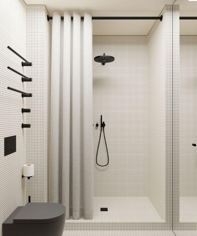 Kleine badkamers voorbeelden zwart wit