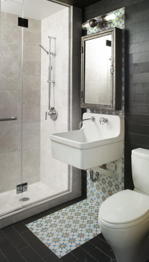 Kleine Bohemian badkamer